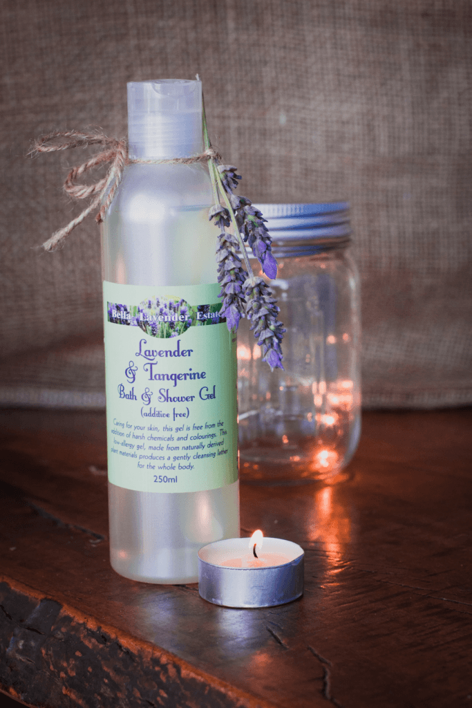 Lavender & Tangerine Bath and Shower Gel من Bella Lavender Estate