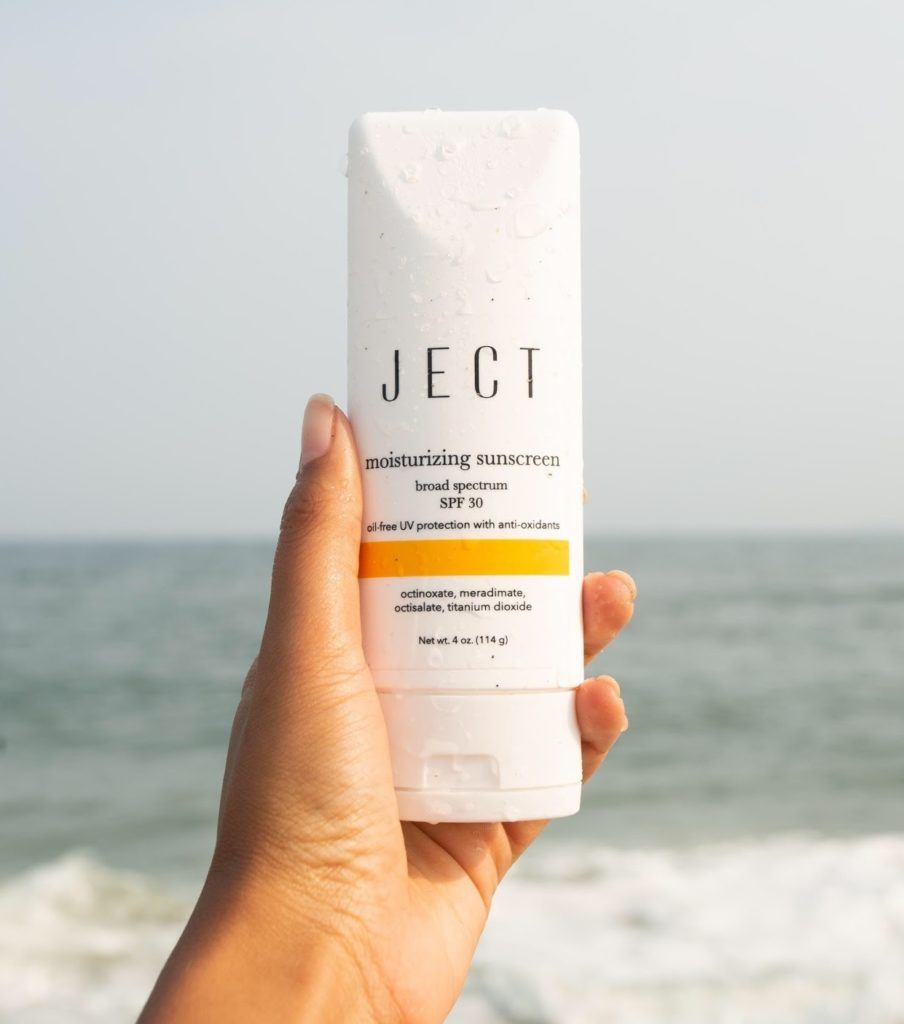 واقي الشمس MOISTURIZING SUNSCREEN من JECT