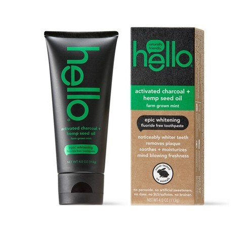 hello® activated charcoal + hemp seed oil