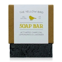 ACTIVATED CHARCOAL SOAP BAR من THE YELLOW BIRD