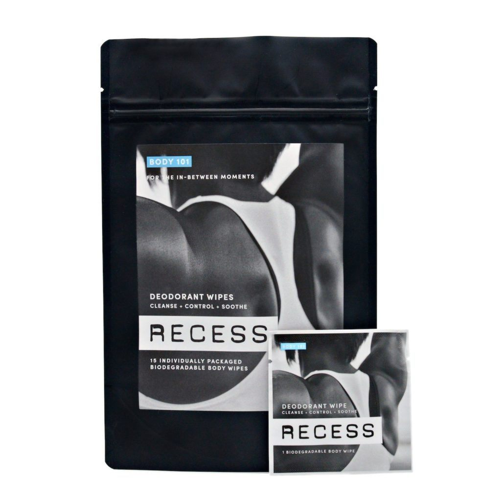 BODY 101 Deodorant Wipes من RECESS مزيلات العرق