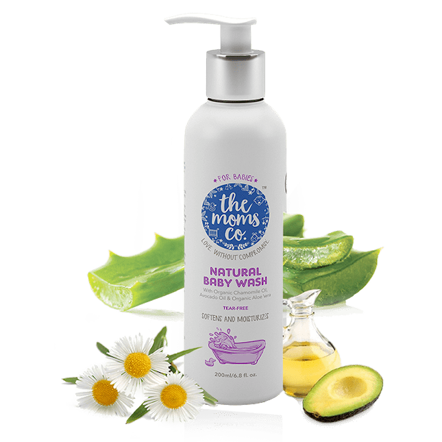 NATURAL BABY WASH (200ML من .the moms co