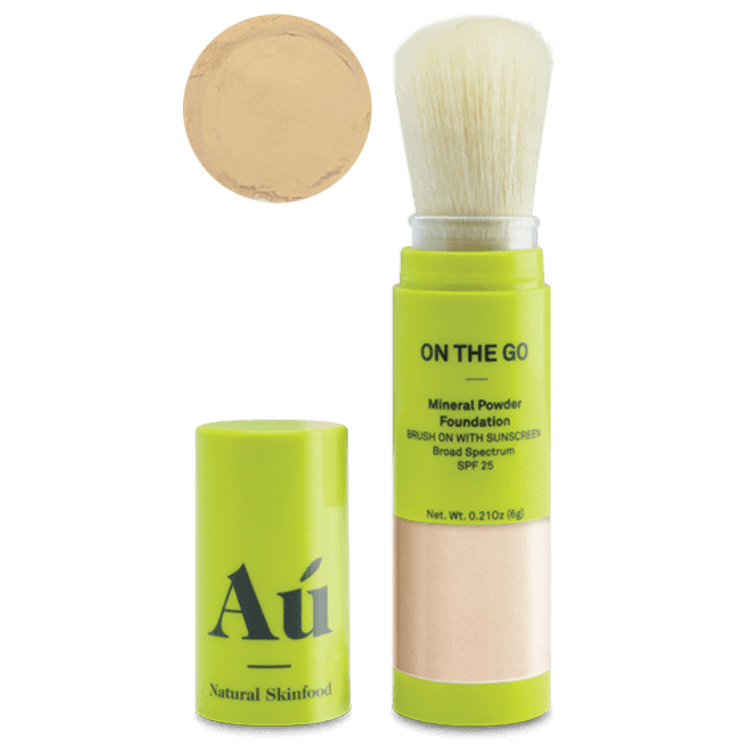 On the Go Powder Sunscreen من au natural skin food افضل كريم واقي شمس