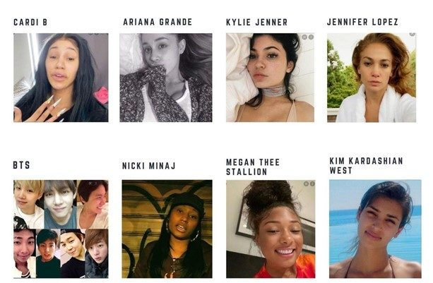 Most searched celebs without makeup